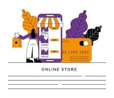 banner da loja online vetor