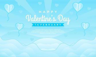 modelo de banner de venda feliz dia dos namorados com fundo azul vetor