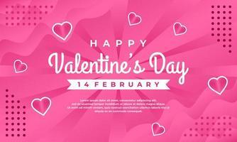 adorável feliz dia dos namorados saudando o fundo do banner com corações vetor