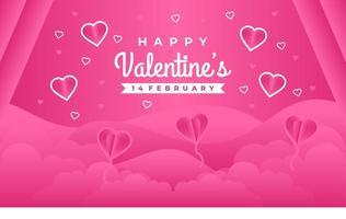 adorável feliz dia dos namorados saudando o fundo do banner com corações