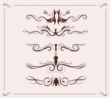 decoração de elementos de cabeçalho art nouveau vetor