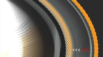 fundo abstrato do vetor. conceito forma padrão curvo. textura gradiente colorida. vetor
