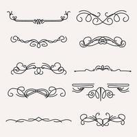 Linhas Art Nouveau vetor