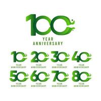 Ilustração de design de modelo vetorial celebração de fluxo de aniversário de 100 anos vetor