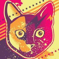 Arte pop gato vetor