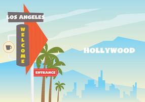 Bem-vindo ao LA Sign Board vetor