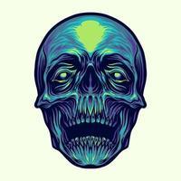 ilustração da cabeça do crânio vetor