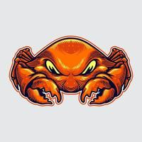 ilustração do mascote do caranguejo vetor