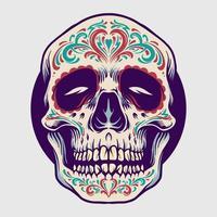 mexicano açúcar caveira ilustração dia de los muertos