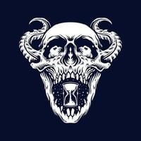 tatuagem de caveira de demônio zumbi