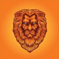 mascote cabeça de leão vetor