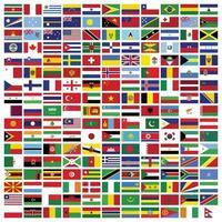 conjunto de bandeiras retangulares do mundo vetor