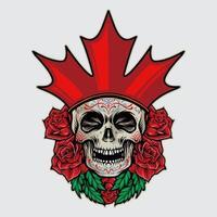 sugar skull dia de los muertos ilustração canadá