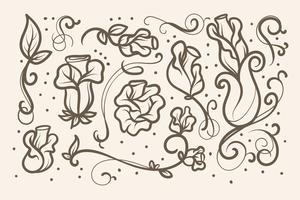 Elementos Art Nouveau vetor