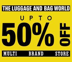 Multi Brand Store Sale até 50% de desconto no modelo de design vetor