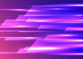 desenho abstrato de movimento de internet de alta velocidade sobreposição geométrica com efeito de iluminação em fundo azul e rosa. vetor
