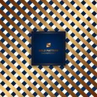ouro e azul treliça padrão de linhas diagonais em fundo branco. vetor