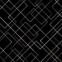 padrão de linhas geométricas abstratas de ouro sobre fundo preto. vetor