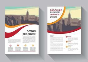 modelo de design de folheto para relatório anual de layout de capa vetor