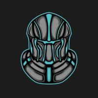 capacete de armadura e-sport mascote vetor