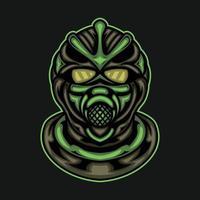mascote mascarado do e-sport vetor