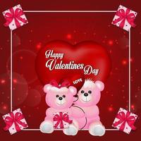 feliz dia dos namorados fundo com corações vetor