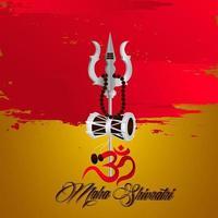 ilustração feliz maha shivratri do festival indiano vetor