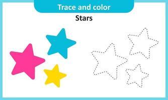 traçar e colorir estrelas vetor