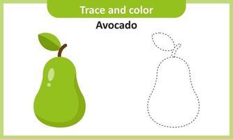 traço e cor de abacate vetor