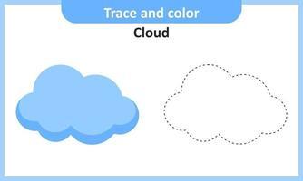 rastreamento e nuvem de cor vetor