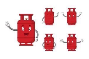 personagem de cilindro de gás vermelho dos desenhos animados. vetor