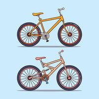 conjunto de duas bicicletas modernas vetor