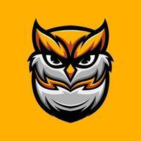 mascote cabeça de coruja vetor