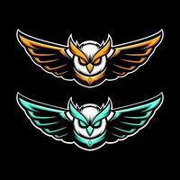 mascote da coruja voadora vetor