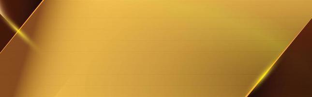 a imagem abstrata dourada apresenta formas geométricas cortadas com linhas douradas brilhantes. vetor