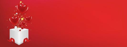 conceito de dia dos namorados com corações com espaço de cópia pode colocar seu texto. usar para cartão de felicitações ou modelo de banner como plano de fundo do projeto. vetor