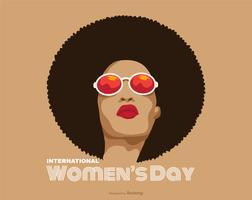 Poster internacional do dia da mulher do vetor