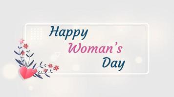 modelo de plano de fundo para o dia internacional da mulher. cartão de felicitações modelo de feriado de 8 de março