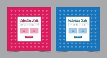pôster de venda do dia dos namorados, postagem de mídia social do dia dos namorados e folheto