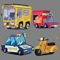 conjunto de vetores de veículos