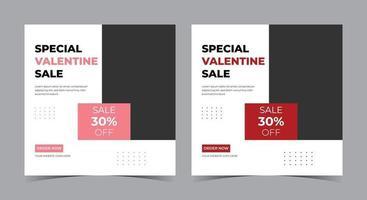 pôster especial de venda do dia dos namorados, postagem de mídia social e panfleto