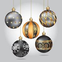 fundo de decoração de bola de Natal. ilustração vetorial. vetor
