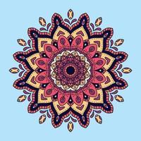 fundo de mandala colorido vetor