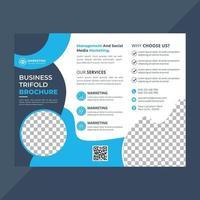 modelo de folheto de três dobras para negócios corporativos vetor