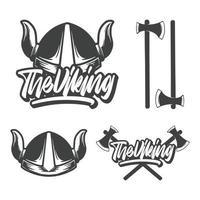 as letras de mão viking e ilustração vetor