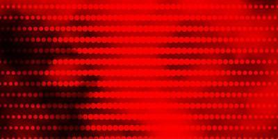 textura vector vermelho e amarelo escuro com círculos.
