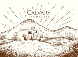 Paisagem do Calvário vetor