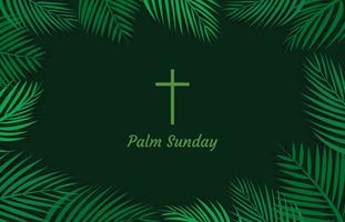 Fundo de domingo de palma simples vetor