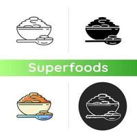 ícone de superalimento de lentilhas