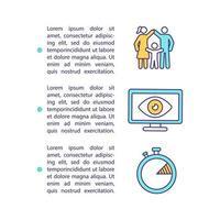 ícone de conceito de tempo de tela de controle dos pais com texto vetor